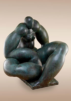 LARGE FIGURE SITTING DOWN